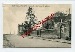 FONTAINE VALMONT-Ecole Des Filles-Rue De La Place-Periode GUERRE 14-18-1 WK-BELGIEN-BELGIQUE-Feldpost- - Merbes-le-Chateau