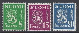 FINLANDE - 1950 -  N° 362 - 366 - 367 - X - TB  - - Finnland