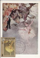 Carte-Maximum KATHIRI -SEIYUN N° Yvert 109 (DEGAS - Danseuse) Obl Sp 1967 - Sonstige - Asien
