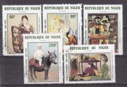 NIGER - N° Y&T - Série Av 299/303 - Les 5 Valeurs - Tableaux De Picasso  - Tous Oblitérés - Níger (1960-...)