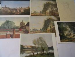 LOT DE 7 CARTES J.B  COROT - Peintures & Tableaux