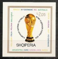 FÚTBOL - ALBANIA 1974 - Yvert #H27 - MNH ** - Copa Mundial