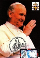 POPE JOHN PAUL 2ND, CM, MAXICARD, CARTES MAXIMUM, 2005, ROMANIA - Christianisme
