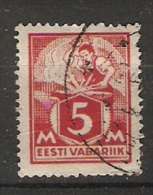 Estonia  1922  Blacksmith  5m (o) Mi.37 - Estonia