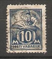 Estonia  1922  Blacksmith  10m (o) Mi.39 - Estonia