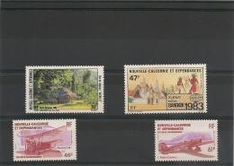 NOUVELLE CALÉDONIE Année 1983 P.A. N°Y/T :230/233** - Poste Aérienne