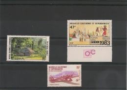NOUVELLE CALÉDONIE Année 1983 P.A. N°Y/T :231/233** - Poste Aérienne