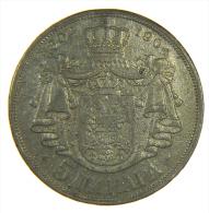 SERBIA (Kingdom) PETER I - 5 DINARA - 1904 (KARAGEORGEVICH Dynasty 100th Anniversary) - Serbia