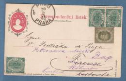 1892 - Intero Postale Austro-Ungarico  Usato In Partenza Da San Marino - Lettres & Documents