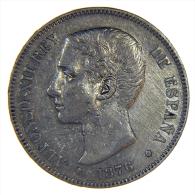 SPAIN / ESPANA - ALFONSO XII - 5 PESETAS 1876 (Madrid) - [ 1] …-1931 : Regno