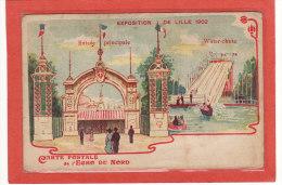 LILLE (59) / EXPOSITIONS / EXPOSITION DE LILLE 1902 / Entrée Principale - Water-chute / Carte Postale De L'Echo Du Nord - Lille
