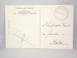 C.P.Ministère Des Finances. Taxe Circulation. Oblitération Remicourt. - Postmark Collection