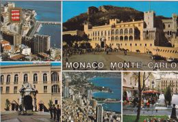 Cp , MONACO , Vue Diverses De La Principauté , Multi-Vues - Monaco