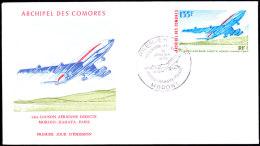 Archipel Des Comores - Premier Jour D'émission - Comores (1975-...)