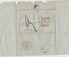 PRECURSEUR - LETTRE 185 DE LIEGE POUR GLONS + TYPE 18 DE GLONS ( COTE H.16) + CACHET + TEXTE A VOIR - 1815-1830 (Dutch Period)