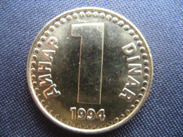 Coin Yugoslavia 1 Dinar 1994(KM 160)-unc - Yugoslavia