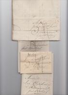 PRECURSEUR - LOT DE 5 PRECURSEURS DE MALINES MECHELEN - 1823 - 1824 - 1825 + TEXTE - A VOIR - 1815-1830 (Dutch Period)