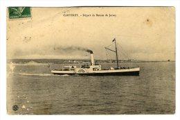 /!\ #6325 - CPA - CARTERET - BATEAU DE JERSEY 1913 - Transbordadores