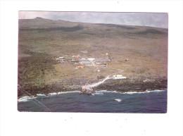 CPSM T.A.A.F - ILE AMSTERDAM - VUE AERIENNE DE LA BASE - 1973 - Timbre Canard Tortue Turtle - TAAF : Terres Australes Antarctiques Françaises