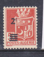 ALGERIE N° 197 2F S 5 ROUGE ORANGE VBLASON D'ORAN F MAIGRE  NEUF AVEC CHARNIERE - Algeria (1924-1962)