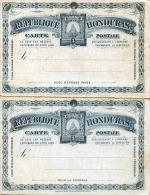 Honduras 1890-1895, 2 X 3 Centavos Ganzsache **, Doppelkarte (Avec+Pour) - Honduras