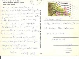 TIMBRES SUR CPA KENIA Pour KARTOUM  SOUSAN - Kenya (1963-...)