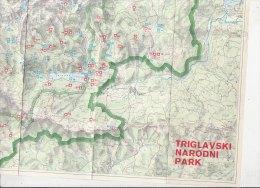 B0833 - CARTINA GEOGRAFICA - MAP - TRIGLAVSKI NARODNI PARK - SLOVENIA - Carte Geographique