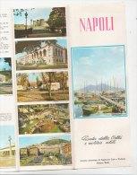 B0893 - Brochure Illustrata - NAPOLI  I.P.I.Manzoni Anni '70 - MAPPA CITTA' - LINEE VAPORETTI ALISCAFI - Toursim & Travels