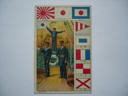 CHROMO  - PAVILLONS - Guerre - National - Marine -  JAPON - Trade Cards
