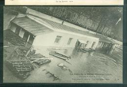 Crue De La Seine -janvier 1910 - L'octroi Du Fort Saint Nicolas , Vue Prise Du Pont Des Saints Pères  Bcn 151 - Inondations De 1910