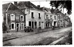 72 - Nogent Le Bernard - Le Centre - Editeur: Combier N° 20 (voiture, Automobile, Pompe à Essence  ) - Francia