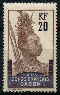 Gabon (1910) N 38 * (charniere)