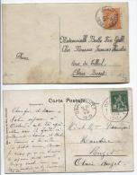 TP 108-110 S/2CP Oblitération Obaix-Buzet Du 30/9/1913&26/8/1913 En Arrivée PR207 - 1912 Pellens
