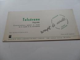 ANCIEN BUVARD / PUB  MEDICAMENT  TOLSERONE SQUIBB - Papeterie