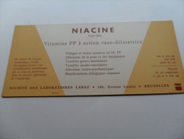ANCIEN BUVARD / PUB  MEDICAMENT    NIACINE   SQUIBB - Papeterie