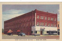 Montana Miles City New Milligan Hotel Curteich - Miles City