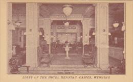 Wyoming Casper Lobby Hotel Henning