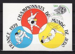 """FRANCE 1979 : Carte Maximum N° YT 2069 """" JUDO """". Parfait état. CM"""