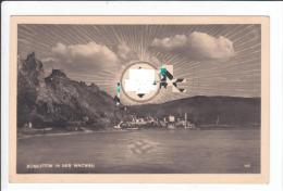 Propagandakarte - Dürnstein Mit Aufgehender Sonne Und Spiegelbild In Der Donau ( J.Farsky, Krems ) - Ohne Zuordnung