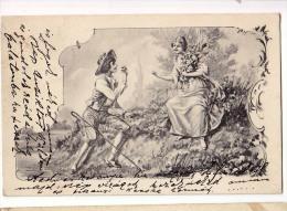 AK  PAARE SIGNIERT :J. ZACH ,B.K.W.I.797/5.OLD POSTCARD 1902 - Couples