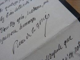 Pierre DE LA GORCE (1846-1934) - Historien Académie Française - AUTOGRAPHE - Autographes