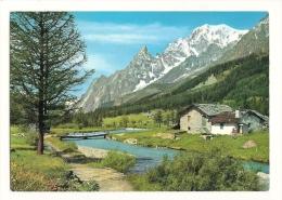 Cp, Italie, Courmayeur - Planpincieux, Le Mont Blanc Vu Par Le Val Ferret - Italia