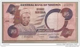 Nigeria - Banconota Circolata Da 5 Naira - 2005 - - Nigeria
