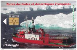 TAAF, TAF-37, L´Astrolabe, Ship, Chip : GEM 6, 2 Scans. - TAAF - French Southern And Antarctic Lands