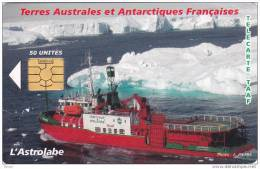 TAAF, TAF-37, L´Astrolabe, Ship, Chip : GEM 5, 2 Scans. - TAAF - French Southern And Antarctic Lands