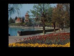 OUCHY LAUSANNE Vaud Suisse : Les Quais Fleuris ( Cachet Postal Centenaire Première Ascension Du Cervin 1865 1965 - VD Vaud