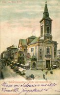 Relief-AK Wien, Kalvarienberggasse Mit Kirche Und Kalvarienberg - Vienne