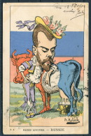 SATIRICAL CPC ILLUSTRATED BY B. MOLOCH - POIRES AUGUSTES - RUSSIE, 1902 - Russia