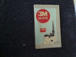 1 PIN´S 3M SANTE COMITE D´ENTREPRISE PITHIVIERS MONTGOLFIERE - Trademarks