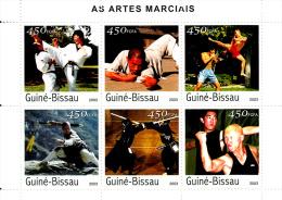 Guinée Bissau 1276 / 81 ( Feuille Complète ) Arts Martiaux